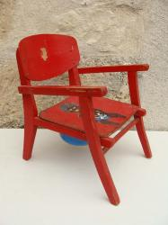 Chaise rouge 2