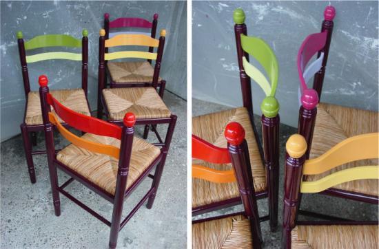 Chaises x 3