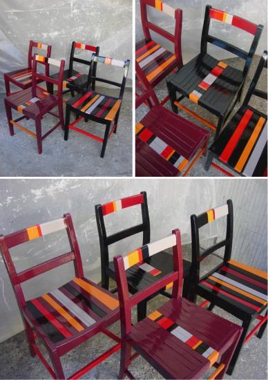 Chaises x 5