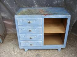 Commode bleue 4