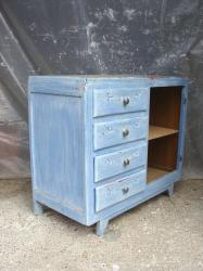Commode bleue 5