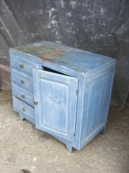 Commode bleue 6